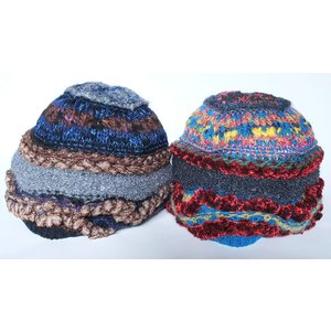 M.&KYOKO カラフルニット帽 ふわもこ手触り!変化のあるテキスタイルがかわいいワッチタイプ