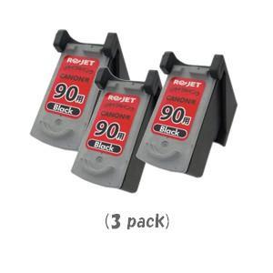 キャノン BC-90(ブラック)「3個入り」 (CANONリサイクルインク) (PIXUS iP1700 iP2200 iP2500 iP2600 MP170 MP450 MP460 MP470:ピクサス)|sworld