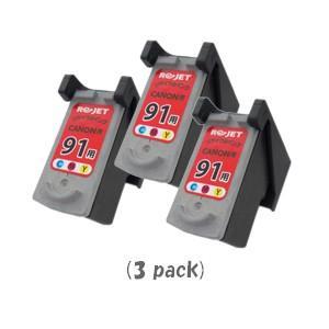 キャノン BC-91(3色カラー) [3個入り] (CANONリサイクルインク) (PIXUS iP1700 iP2200 iP2500 iP2600 MP170 MP450 MP460 MP470:ピクサス)|sworld
