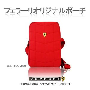 ミニショルダー 斜めがけバッグ ポーチ ferrari フェラーリ FECAXLV1R|sy-store