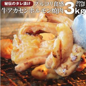 焼肉 牛肉 肉 アカセン ホルモン 3kg 200g×15袋 タレ漬け あかせん ギアラ ぎあら 焼...