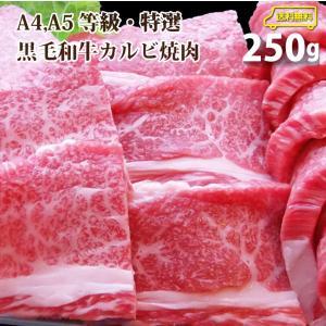 牛肉 肉 食品 特選 黒毛和牛 カルビ 焼肉 A4,A5ランク 250g お取り寄せ グルメ お中元...