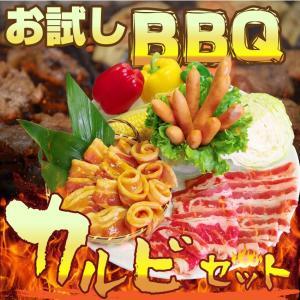 バーベキュー お試し カルビセット 3種盛り BBQ 送料無料|syabumaru