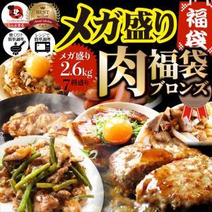 肉の福袋 2021年 ブロンズ メガ盛り 総重量2.6kg(7種 食べ比べ) 牛肉 焼肉セット 焼肉...