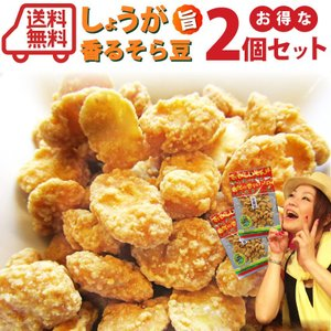 お得 2個セット 生姜 豆(67g)  豆 ナッツ  ポイント消化 おつまみ お菓子 送料無料 メール便 syabumaru