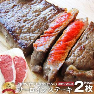 牛肉 肉 食品 サーロイン ステーキ リッチな 赤身 贅沢 セット 厚切り 250g 2枚 オースト...
