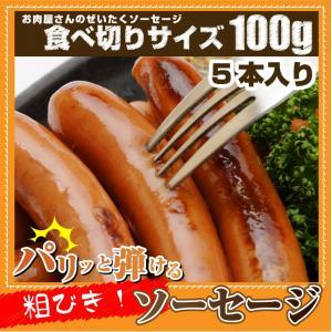 ソーセージ ウインナー 100g 惣菜 ジューシー 粗挽き 粗びき あらびき ポーク 豚 バーベキュ...