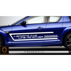 トライバルカーステッカーRX-8車用10■ワイルドスピードユーロカスタムバイナル syarakugenesis