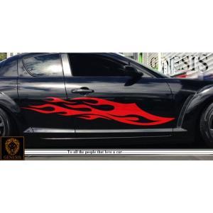ファイヤーカーステッカーRX-8車用12■ワイルドスピードユーロカスタムバイナル syarakugenesis