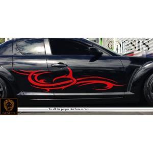 トライバルカーステッカーRX-8車用13■ワイルドスピードユーロカスタムバイナル syarakugenesis