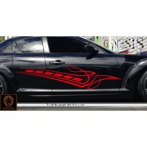 トライバルカーステッカーRX-8車用14■ワイルドスピードユーロカスタムバイナル syarakugenesis
