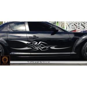 トライバルカーステッカーRX-8車用15■ワイルドスピードユーロカスタムバイナル syarakugenesis