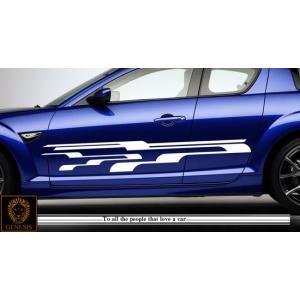 ラインカーステッカーRX-8車用1■ワイルドスピードユーロカスタムバイナル syarakugenesis