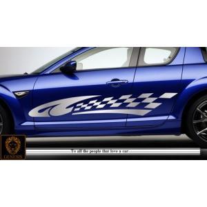 チェッカーカーステッカーRX-8車用4■ワイルドスピードユーロカスタムバイナル syarakugenesis
