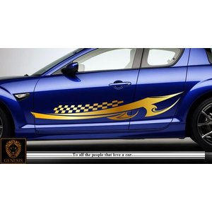 トライバルカーステッカーRX-8車用5■ワイルドスピードユーロカスタムバイナル syarakugenesis