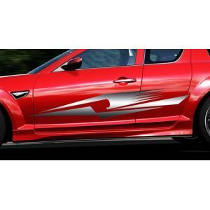 トライバルカーステッカーRX-8車用9■ワイルドスピードユーロカスタムバイナル syarakugenesis
