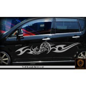 軽自動車にも合う★トライバルバイナルグラフィック03コンパクトカスタムカーステッカー|syarakugenesis