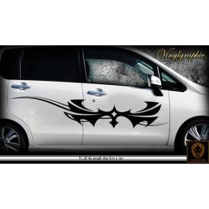 軽自動車にも合う★トライバルバイナルグラフィック04コンパクトカスタムカーステッカー|syarakugenesis
