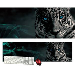 白豹特大デスクマットdsm01/1000×280/セミハードタイプ/マウスパッド/ゲーミング/高級感のあるエンボス仕様/かっこいい|syarakugenesis