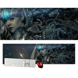 女神特大デスクマットdsm03/1000×280/セミハードタイプ/マウスパッド/ゲーミング/高級感のあるエンボス仕様かっこいい|syarakugenesis