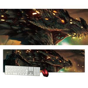 ドラゴン特大デスクマットdsm04/1000×280/セミハードタイプ/マウスパッド/ゲーミング/高級感のあるエンボス仕様かっこいい|syarakugenesis