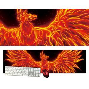 フェニックス特大デスクマットdsm06/1000×280/セミハードタイプ/マウスパッド/ゲーミング/高級感のあるエンボス仕様かっこいい|syarakugenesis
