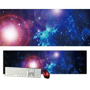 宇宙特大デスクマットdsm07/1000×280/セミハードタイプ/マウスパッド/ゲーミング/高級感のあるエンボス仕様かっこいい|syarakugenesis