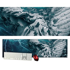 女神特大デスクマットdsm09/1000×280/セミハードタイプ/マウスパッド/ゲーミング/高級感のあるエンボス仕様かっこいい|syarakugenesis
