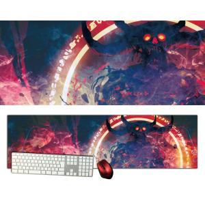 悪魔特大デスクマットdsm10/1000×280/セミハードタイプ/マウスパッド/ゲーミング/高級感のあるエンボス仕様/かっこいい|syarakugenesis