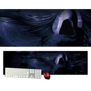 死神特大デスクマットdsm12/1000×280/セミハードタイプ/マウスパッド/ゲーミング/高級感のあるエンボス仕様/かっこいい|syarakugenesis