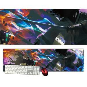 侍サムライ特大デスクマットdsm13/1000×280/セミハードタイプ/マウスパッド/ゲーミング/高級感のあるエンボス仕様/かっこいい|syarakugenesis