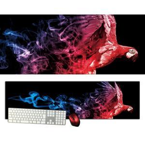 オウム特大デスクマットdsm18/1000×280/セミハードタイプ/マウスパッド/ゲーミング/高級感のあるエンボス仕様/かっこいい|syarakugenesis