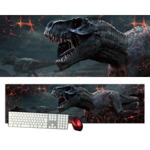 恐竜特大デスクマットdsm19/1000×280/セミハードタイプ/マウスパッド/ゲーミング/高級感のあるエンボス仕様/かっこいい|syarakugenesis