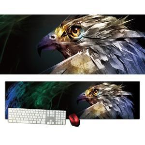 ファルコン特大デスクマットdsm21/1000×280/セミハードタイプ/マウスパッド/ゲーミング/高級感のあるエンボス仕様/かっこいい|syarakugenesis
