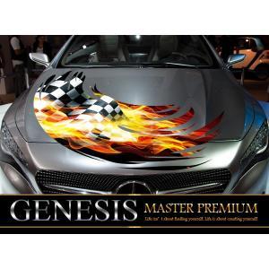 チェッカーフロントカーステッカーfk04■炎バイナルグラフィック車ワイルドスピード系|syarakugenesis