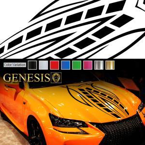 フロントラインカーステッカー01バイナルグラフィックボンネット|syarakugenesis