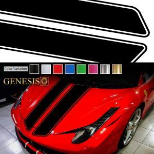 フロントラインカーステッカー02バイナルグラフィックボンネット|syarakugenesis