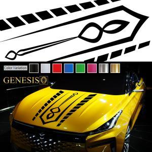 フロントラインカーステッカー05バイナルグラフィックボンネット|syarakugenesis