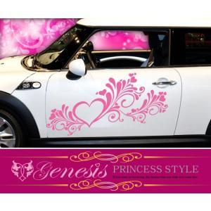 姫系ギャル系かわいいカーカスタムステッカー01☆ドレスアップ車|syarakugenesis