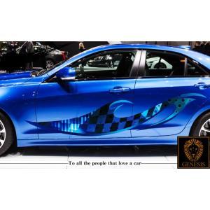 チェッカーカーステッカーカラー06■バイナルグラフィック限定車ワイルドスピード系|syarakugenesis