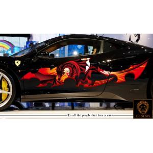 車 ステッカー かっこいい カスタム ドラゴン 竜 トライバル カーステッカー 車用 スポーツ カラー バイナルグラフィック ワイルドスピード系 ユーロ デカール 7 syarakugenesis