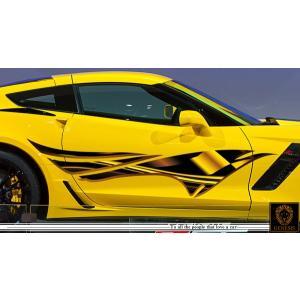 車 ステッカー かっこいい カスタム リェッカーフラッグ カーステッカー 車用 スポーツ カラー バイナルグラフィック ワイルドスピード系 ユーロ デカール 8 syarakugenesis