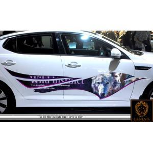 車 ステッカー かっこいい カスタム ウルフ 狼 アニマル カーステッカー 車用 スポーツ カラー バイナルグラフィック ワイルドスピード系 ユーロ デカール 14 syarakugenesis