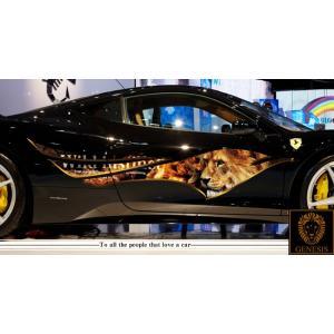 車 ステッカー かっこいい カスタム ライオン アニマル カーステッカー 車用 スポーツ カラー バイナルグラフィック ワイルドスピード系 ユーロ デカール 15 syarakugenesis