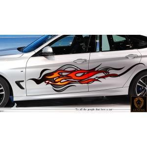 ファイアカーステッカーカラー21■バイナルグラフィック車炎限定ワイルドスピード系|syarakugenesis