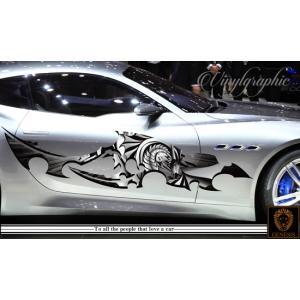 ドラゴンカーステッカーカラー28■龍バイナルグラフィック車ワイルドスピード系デカール|syarakugenesis