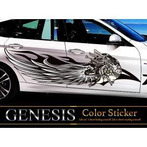 女神カーステッカーカラー32■翼バイナルグラフィック車ワイルドスピード系デカール|syarakugenesis