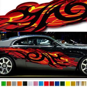 バイナルグラフィック覚醒シリーズファイア炎05/ワイルドスピード系デカール/車用かっこいいステッカー/上質本格限定カスタム|syarakugenesis