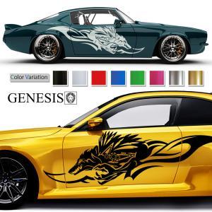 ウルフカーステッカー147■バイナルグラフィック車カスタム限定 かっこいいデカール 14色から選べる|syarakugenesis
