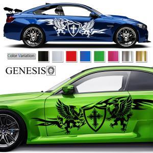 トライバルカーステッカー155■バイナルグラフィック車カスタム かっこいいデカール 14色から選べる|syarakugenesis